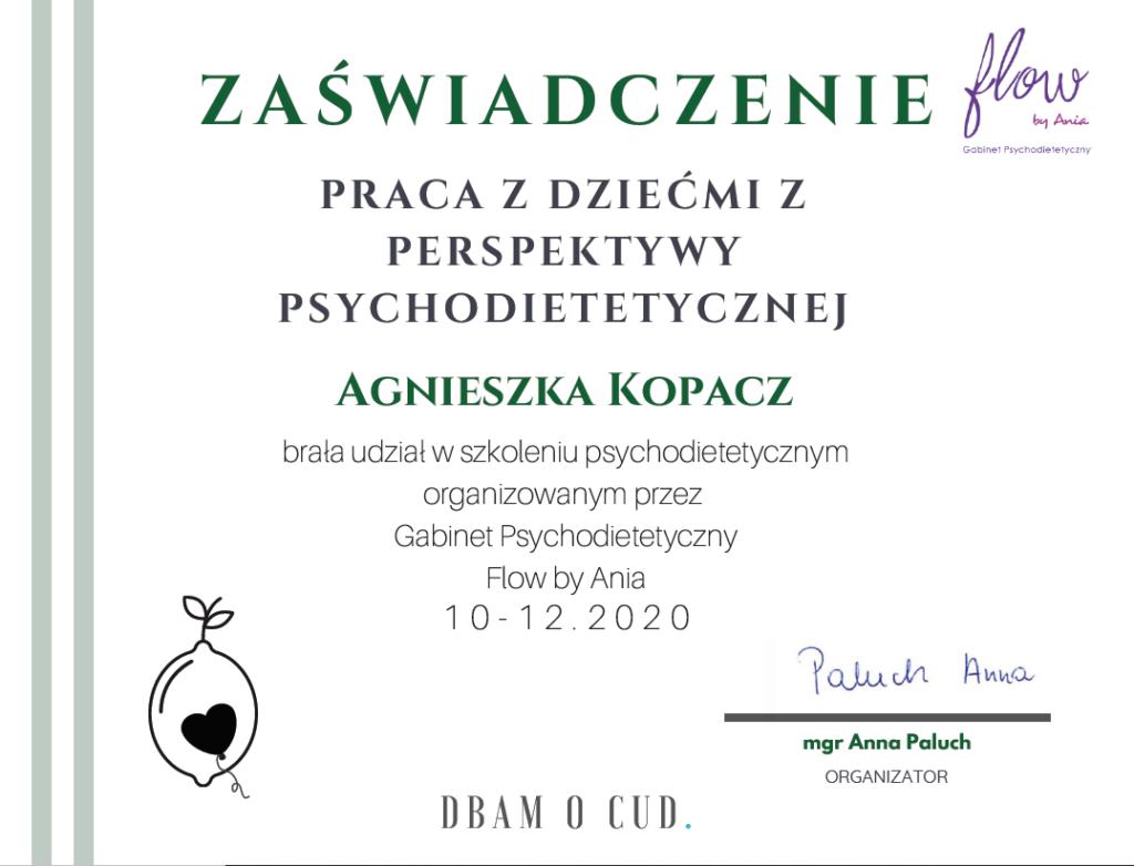 Praca z dziećmi z perspektywy psychodietetycznej