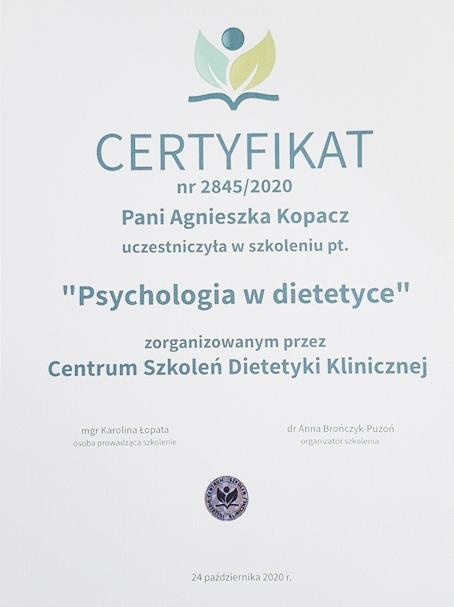 """Szkolenie: ,,Psychologia w dietetyce"""""""